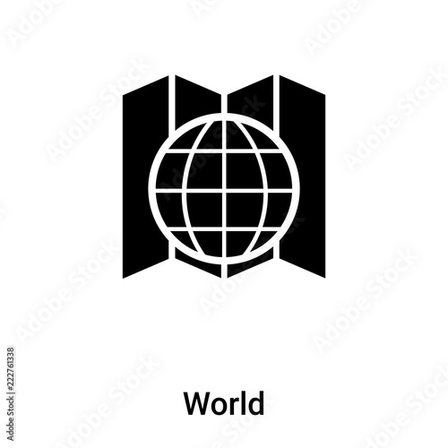 World icon vector isolated on white background, logo concept