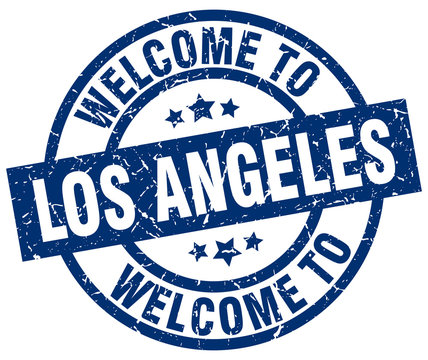 welcome to Los Angeles blue stamp