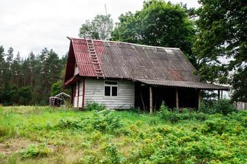 Abandoned manor house in Nalibokskaya Pushcha