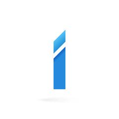 Letter I logo on white alphabet background