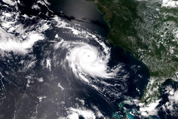 Giant cyclone on the planet Earth. Elements of this image furnished by NASA