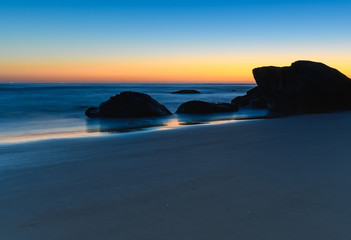 Rocky Blue Hour at the Beach