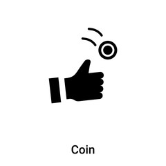 Coin icon vector isolated on white background, logo concept of Coin sign on transparent background, black filled symbol