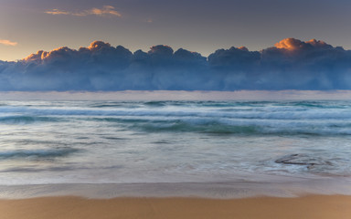 Under the Cloudbank Sunrise Seascape