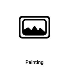 Painting icon vector isolated on white background, logo concept of Painting sign on transparent background, black filled symbol