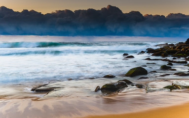 Early Morning Cloudbank and Seascape