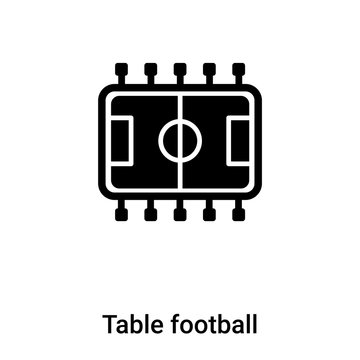 Table football icon vector isolated on white background, logo concept of Table football sign on transparent background, black filled symbol