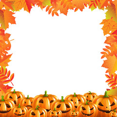 Autumn Discount Halloween Poster Isolated