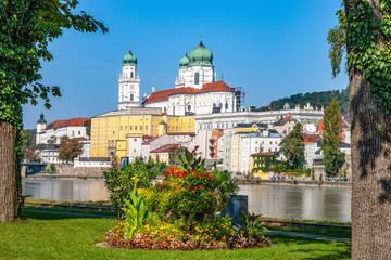 Dreiflüssestadt Passau Fototapete