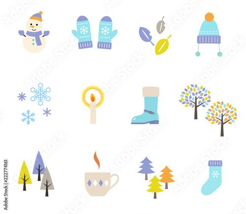 冬のイラスト セットfotoliacom の ストック画像とロイヤリティフリー