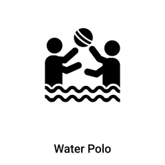 Water Polo icon vector isolated on white background, logo concept of Water Polo sign on transparent background, black filled symbol
