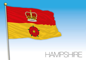 Hampshire flag, United Kingdom, vector illustration