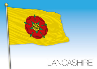 Lancashire flag, United Kingdom, vector illustration