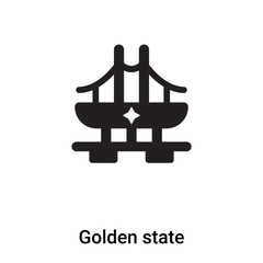 Golden state icon vector isolated on white background, logo concept of Golden state sign on transparent background, black filled symbol