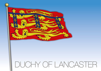 Ducky of Lancaster flag, United Kingdom, vector illustration