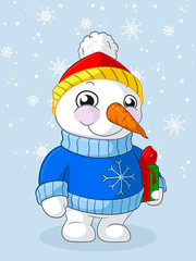 Glücklicher Weihnachts Schneemann