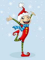 Lustiger Weihnachts Wichtel