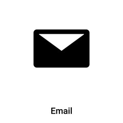 Email icon vector isolated on white background, logo concept of Email sign on transparent background, black filled symbol