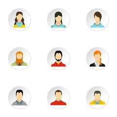 Different avatar icons set. Flat illustration of 9 different avatar vector icons for web