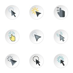 Arrow icons set. Flat illustration of 9 arrow vector icons for web