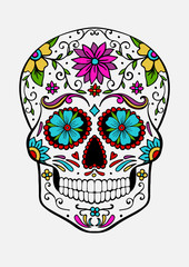 hand-drawn sugar skull