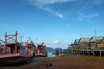 Fisherman village in asia. Koh Lanta Old Town, Krabi Province, Thailand.