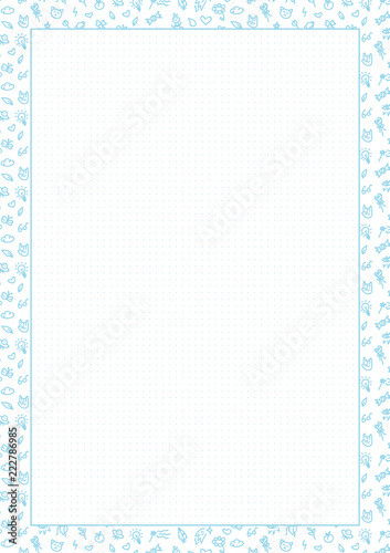 picture relating to Free Printable Dot Grid Paper known as Vector Blue Dotted Grid Graph Paper A4, Printable, dots
