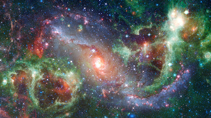 Spiral galaxy in space. Elements of this image furnished by NASA.