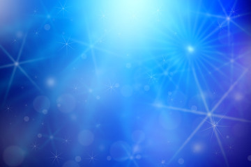 Blue bokeh light or winter background, Christmas and New Year holidays background