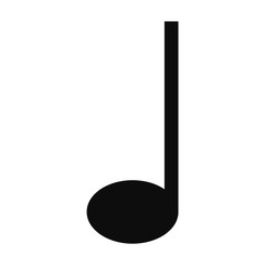 Quarter music note icon. Simple illustration of quarter music note vector icon for web design isolated on white background