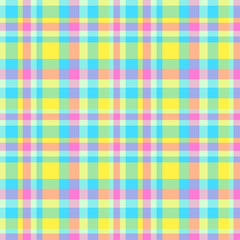 Seamless colorful pattern. Abstract geometric wallpaper of the surface. Checkered multicolored background. Pretty texture. Print for polygraphy, t-shirts and textiles. Doodle for design. Art creation