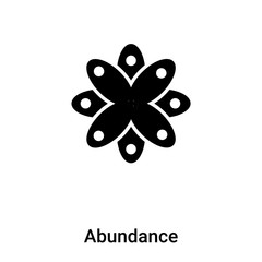 Abundance icon vector isolated on white background, logo concept of Abundance sign on transparent background, black filled symbol