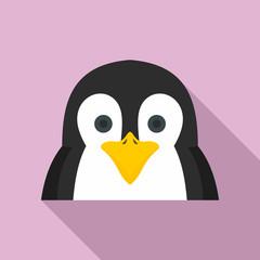 Penguin icon. Flat illustration of penguin vector icon for web design
