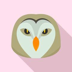 Owl head icon. Flat illustration of owl head vector icon for web design