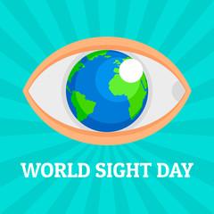 World eye day concept background. Flat illustration of world eye day vector concept background for web design