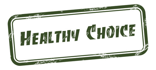 Healthy choice square grungy stamp Vector illustration