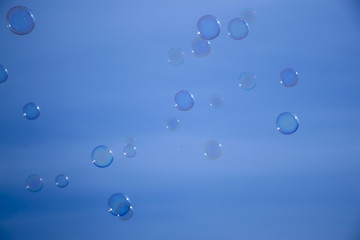 Bubbles in the blue sky.