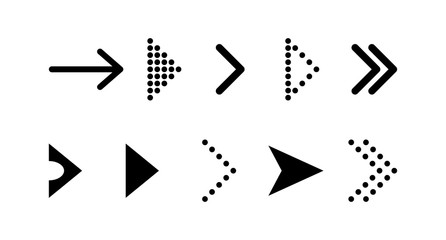 Arrow vector icon. Arrow. Arrows vector collection. Set black vector arrows icon