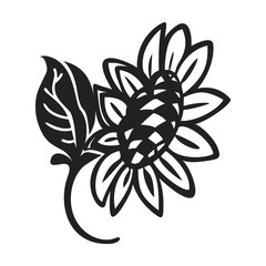 Organic sunflower icon. Simple illustration of organic sunflower vector icon for web design isolated on white background