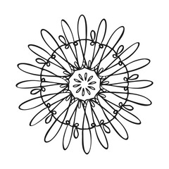 Spring flower icon. Simple illustration of spring flower vector icon for web design isolated on white background