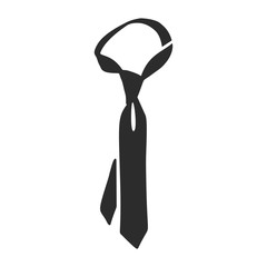 Necktie icon. Simple illustration of necktie vector icon for web design isolated on white background