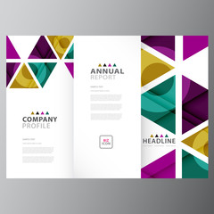 Annual business report colorful template