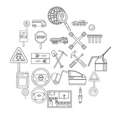Apparatus icons set. Outline set of 25 apparatus vector icons for web isolated on white background