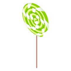 Swirl lollipop icon. Isometric of swirl lollipop vector icon for web design isolated on white background