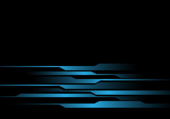 Abstract blue light line futuristic on black design modern futuristic vector background illustration.