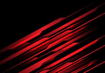 Abstract red light line futuristic on black design modern futuristic vector background illustration.