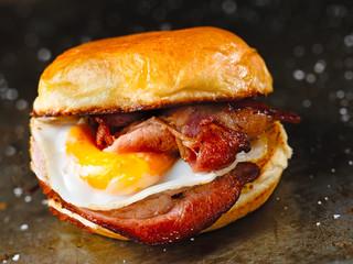 Printed roller blinds Snack rustic bacon egg breakfast sandwich bun