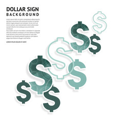Dollar signs design. American currency signs on white background. Vector.