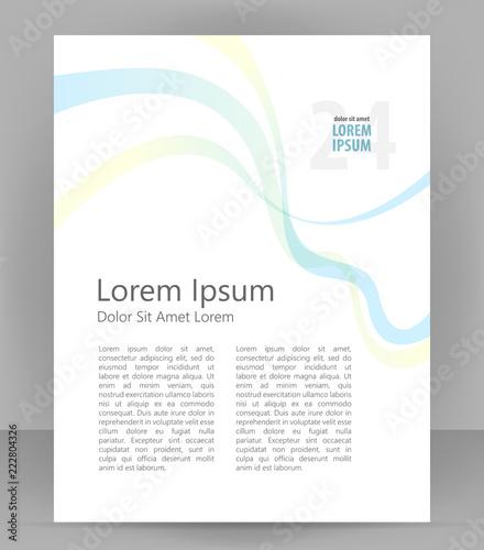 Flyer brochure, cover layout design print template, light pamphlet