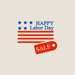 Labor day sale logo. Flat illustration of labor day sale vector logo for web design